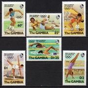 Gambie - 1984 - N° Yvert : 495 à 500 ** - Jeux Olympiques Los Angeles - Gambie (1965-...)