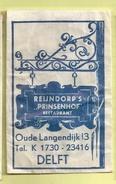 Suikerzakje.- DELFT. Restaurant - REIJNDORP'S PRINSENHOF -. Oude Langendijk 13. - Sugars