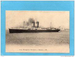 """Paquebot """"TOURANE"""" Sortant Du Pport- Messageries Maritimes-années 1910-20  édition  E L - Dampfer"""