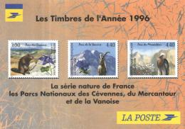 A 3064 - Les Timbres De L'Année 1996  Série Nature De France  Parcs Nationaux Des Cévennes  Mercantour Et De La Vanoise - Stamps (pictures)