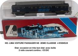 HO....LIMA...VOITURE PASSAGER  NS  2EME CLASSSE 4 ESSIEUX (5 SCANS) - Voitures Voyageurs