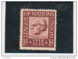 League Of Nations Stamps  MNH 1919-1939 - 1920-35 League Of Nations