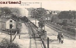LISIEUX PASSAGE A NIVEAU RUE D'ORBEC TRAIN LOCOMOTIVE GARE 14 CALVADOS - Lisieux