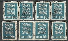 ESTLAND Estonia 1928 Michel 79 O Mit Zählnummern - Estland