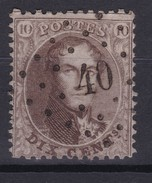 N° 14 A  DISTRIBUTION  LP 40 BILSEN  Coba +  20.00 - 1863-1864 Medaillen (13/16)