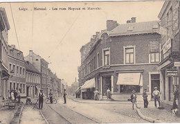 Herstal - Les Rues Hoyoux Et Marexhe (animation, Commerces, Travaux, 1923) - Herstal