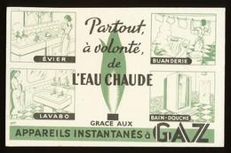 Buvard - Eau Chaude Partout Avec LE GAZ - Buvards, Protège-cahiers Illustrés
