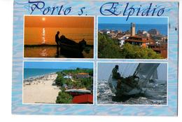 S1245 Cartolina Delle Marche - Porto S. Elpidio (Fermo) Multipla Con Barce _ CIRCOLATA - Andere Städte