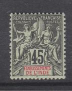 Inde N° 18  XX Type Groupe :  45 C. Noir Sur Vert  Sans  Charnière,  TB