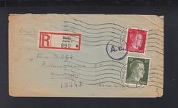 Dt. Reich R-Brief 1943 Halle Nach Niederlande Zensur - Germania