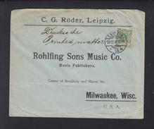 Dt. Reich Drucksachenbrief 1897 Leipzig Nach USA - Deutschland