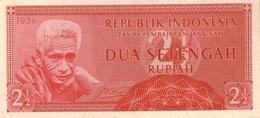INDONESIA 2 1/2 RUPIAH 1956 P-75a UNC  [ID404b] - Indonesia