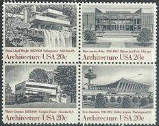 US 1982   Sc#2022a  20c Architecture Block  MNH** - United States