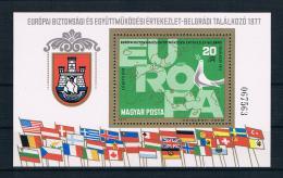 Ungarn 1977 Europa KSZE Block 126 A ** - Ungebraucht