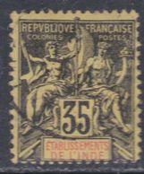 Inde N° 17 O  Type Groupe : 35 C. Noir Sur Jaune, Oblitération Moyenne  Sinon  TB