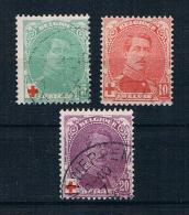 Belgien 1914 Rotes Kreuz Mi.Nr. 107/09 Kpl. Satz Gest. - 1914-1915 Rotes Kreuz