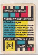 Poland Old Calendar - 1963 - Krakowskie Zaklady - Calendriers