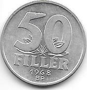 Hungary 50 Filler 1968  Km 574  Xf+ - Hongrie