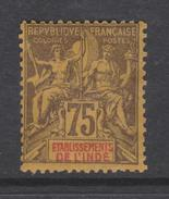 Inde N° 12  X Type Groupe : 75 C. Violet Sur Jaune   Trace De Charnière  Sinon TB