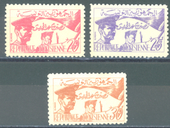 TUNISIE - 1957 - MNH/** 445 IS MLH/* AND GRATIS  - Yv 444-446  - Lot 15011 - Tunisie (1956-...)