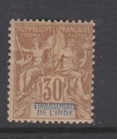 Inde N° 9  X Type Groupe : 30 C. Brun Trace De  Charnière Sinon  TB