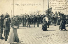 JOIGNY -- CONCOURS De PECHE Du 26 JUIN 1910 -- Défilé Des Pecheurs Sur Le Pont - Joigny
