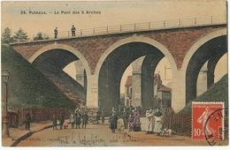 Puteaux Le Pont Des 5 Arches  Boulangerie Ambulante Triporteur Couleur - Puteaux