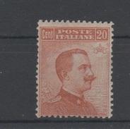 1917 20 C. Con Filigrana MLH - 1900-44 Vittorio Emanuele III