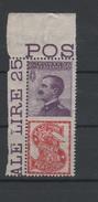 1924-25 Pubblicitari 50 C. Singer MNH - Usados