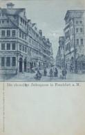 Die Ehemalige Judengasse In Frankfurt A. Main Former Jew Alley Street Scene, C1890s/1900s Vintage Postcard, Judiasm - Jewish