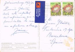 20530. Postal Aerea JOHANNESBURG (South Africa) 1980 To Spain - África Del Sur (1961-...)