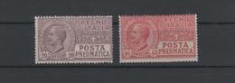 1927-28 Posta Pneumatica 15 C. 35 C. Serie Cpl MNH - Usati