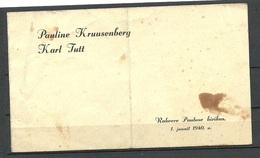 ESTONIA Estland Wedding Invitation Hochzeit - Einladung 1940 - Hochzeit