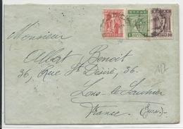 GRECE - 1922 - TRICOLORE - ENVELOPPE Pour LONS LE SAUNIER JURA (FRANCE) - - Grecia