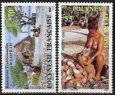 POLYNESIE FRANçAISE:  ( Yvert 326/327) Flore LE COPRAH RARE Neufs ** Luxe MNH SIN CHARNELA - Polinesia Francesa