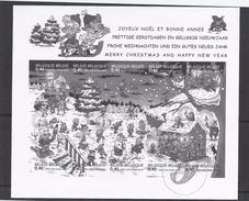 Belgie - Belgique GCB6 - Zwart-wit Velletje Uit Jaarboek 2002  -  Kerstzegels BL98  - NIET GEKWOTEERD - Feuillets Noir & Blanc