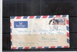 Cover From Ceylon To Belgium -  Mount Lavinia Hotel Colombo (to See) - Sri Lanka (Ceylan) (1948-...)