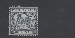 1928 Recapito Autorizzato 10 C. Dent.11 MLH - Nuovi