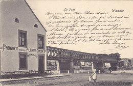 Wandre - Le Pont (animée, Café Du Progrès Restaurant, Précurseur, 1903) - Herstal