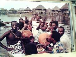 BENIN GANVIE BARCA  SU FIUME ANIMEE  V1981  FV9002 - Benin