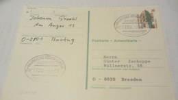 BRD VGO: Antw-Karte Kompl. Celle Mit Bahnpoststempel Vom 7.4.91 Knr: P 148 Kpl. - Covers & Documents
