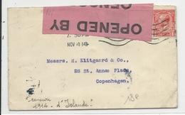 IRLANDE - 1914 - ENVELOPPE Avec CENSURE De BELFAST Pour COPENHAGUE (DANEMARK) - Marcofilie