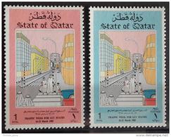 Q23 Qatar 1985 SG 784-785 Complete Set MNH - Traffic Week For GCC States - Qatar