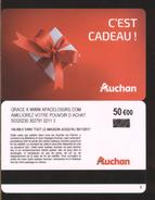 GIFT CARD - Carte Cadeau Auchan - C'EST CADEAU - 50 € - APACELOISIRS - Cartes Cadeaux