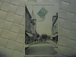 C P A ANIMEE COURS GRANDE RUE ET PLACE DU MARCHE CIRCULEE 1907 - France