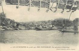 PONTS DE CE CATASTROPHE OPERATIONS DE SAUVETAGE 49 - France