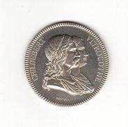 Médaille Argent   _ Administration Des Hopitaux Civils De Lyon (conseil Général ) - Monnaies & Billets