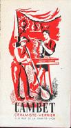 Publicité Recto-Verso: Cambet, Céramiste-Verrier - Robes, Manteaux Nono, Au Triomphe, Chemiserie - Advertising