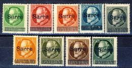 Sarre 1920 Serietta N. 18-26  MH Cat. € 53 - 1920-35 Società Delle Nazioni