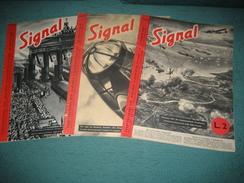 """RIVISTA """" SIGNAL """" BILINGUE TEDESCO - ITALIANO , 3 NUMERI : NN. 9-10-11 , AGOSTO - SETTEMBRE 1940 . - War 1939-45"""